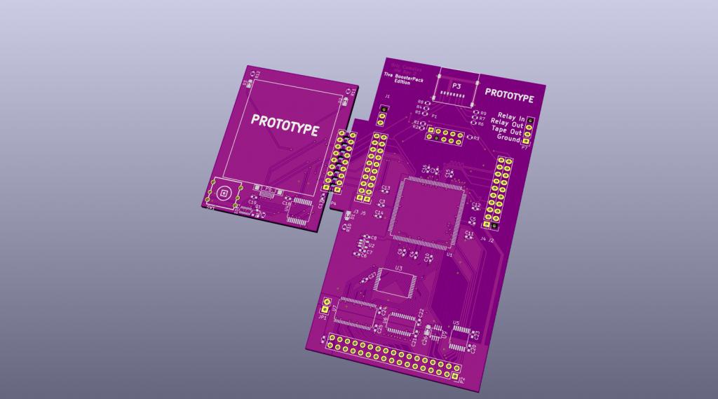 Cumulus Rev2 prototype PCB - Front View